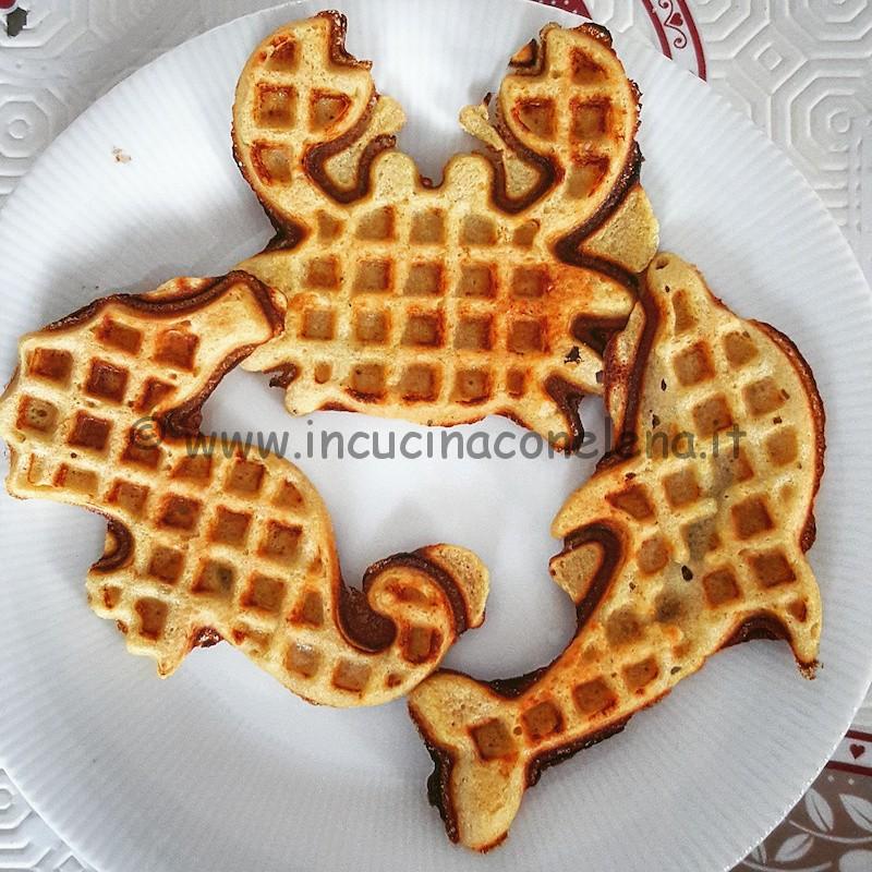 Waffle alla banana