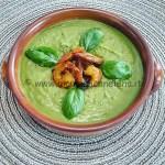 Ricetta Crema di piselli con gambery al curry