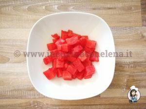 Insalata di anguria, cetrioli e feta