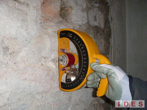 Ex Casa del Custode in Campo Marte - Brescia - Prove sclerometriche su malta