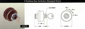 INDAK Switches 3 Position Key Switches (Stamped Keys