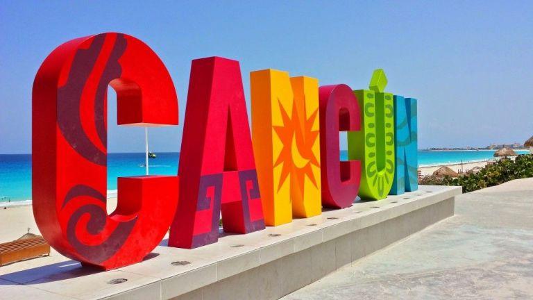 Cancún letras turísticas