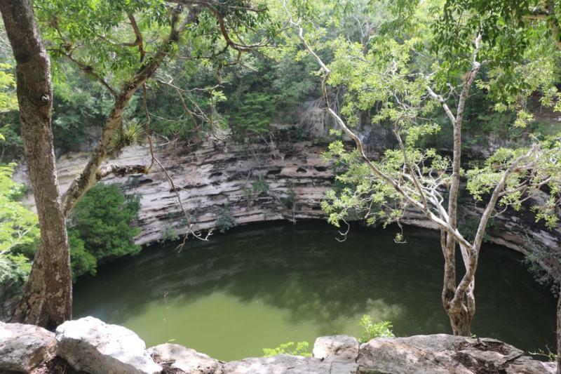 Cenote sagrado perto de chichén itzá