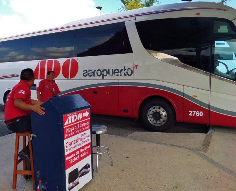 onibus ado do aeroporto de cancún a playa del carmen