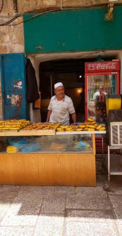 Mesquisa na cidade antiga de jerusalém mercado
