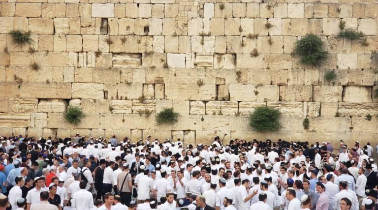 Muro das Lamentações durante o Shabbat em Jerusalém
