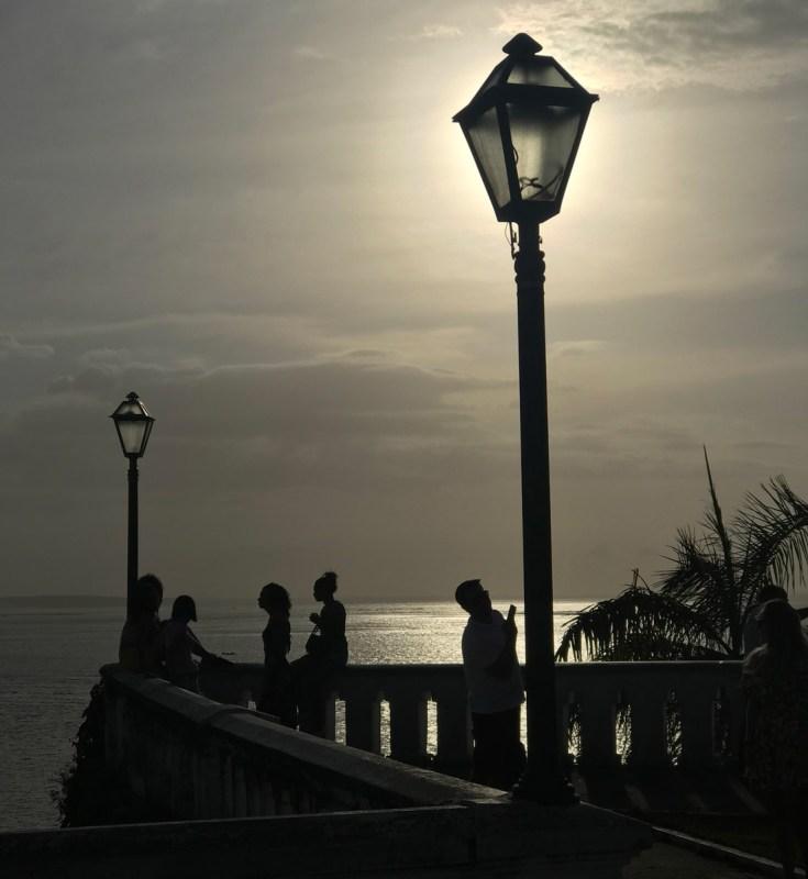 Pôr do sol no Palácio dos Leões em São Luís do Maranhão