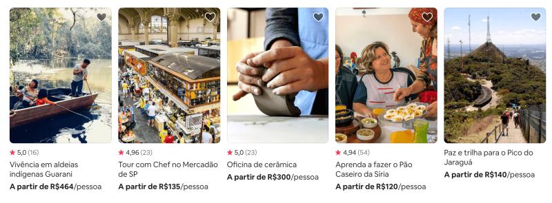 Experiências em que você pode usar o cupom de desconto do Airbnb