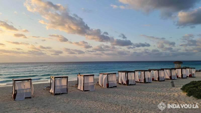 vista do quarto no grand park royal cancun