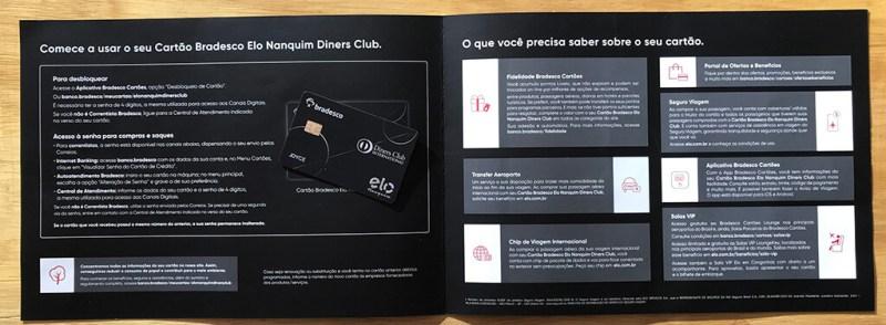 Recebendo o cartão Elo Nanquim Diners emitido pelo Bradesco