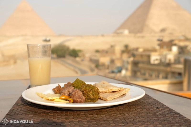 onde ficar no cairo com café da manha e vista para piramides