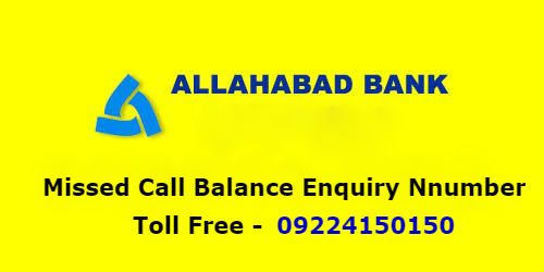 Allahabad Bank Missed Call Balance Enquiry Number to Know Your Account Balance