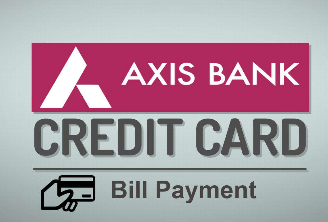 pay axis bank credit card bill online through netbanking