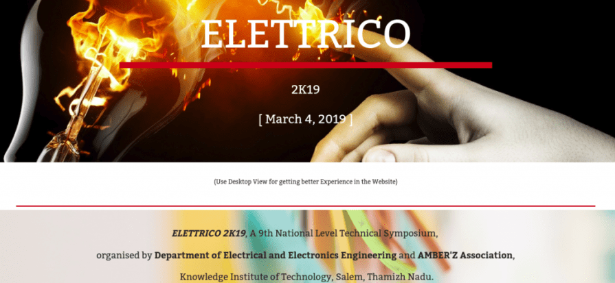 ELETTRICO 2K19 - Knowledge Institute of Technology