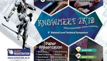 KNOWMEET 2k19 - Knowledge Institute of Technology