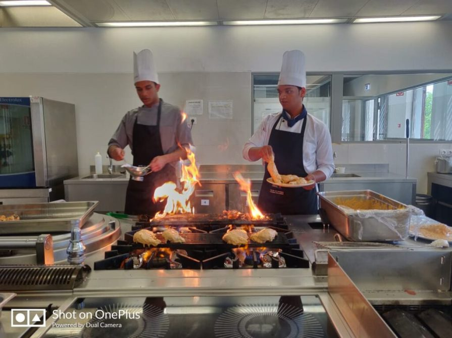 VMSIIHE Students in action cooking lunch for the Indian Ambassador in Portugal