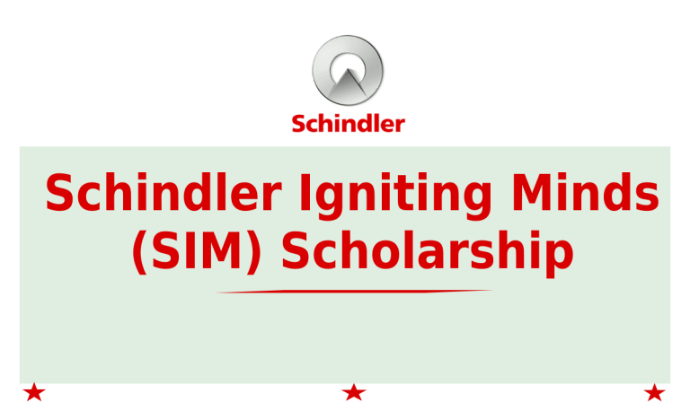 Schindler Igniting Minds