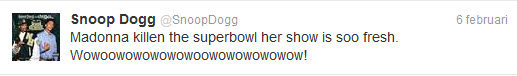 Snoop Dogg over Madonna haar Superbowl optreden