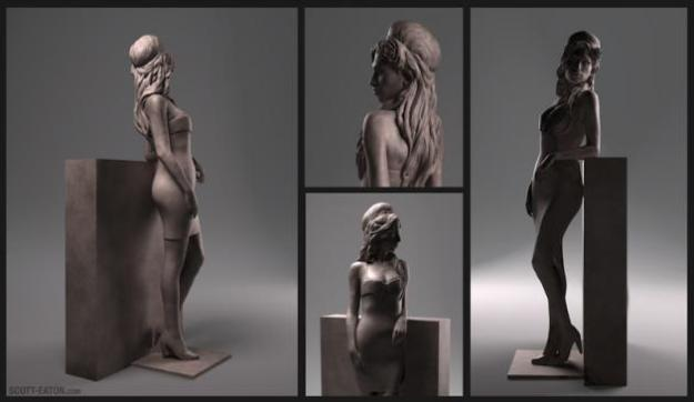 Amy Winehouse standbeeld