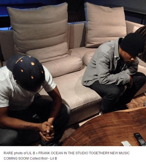Frank Ocean en Lil B in de studio (foto)