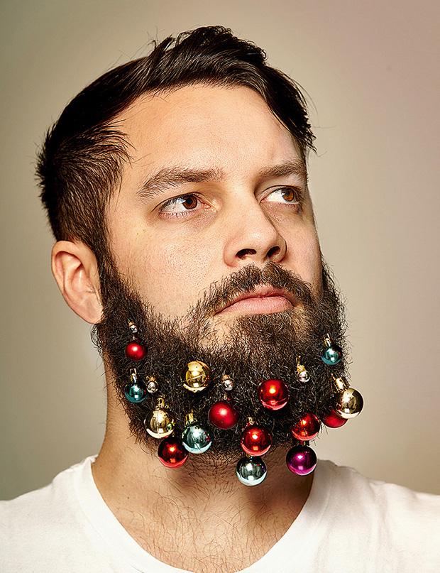 Versier je baard met kerst