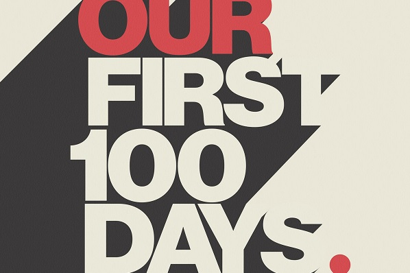 Our First 100 Days muziek project