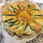 Girasole di pasta sfoglia ricotta e spinaci
