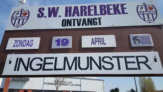 Het affische van die middag: De derby Harelbeke - Ingelmunster