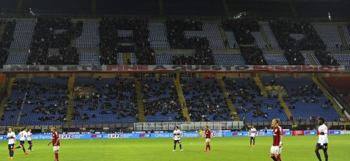 Basta, a choreo display by AC Milan Fans against Genoa