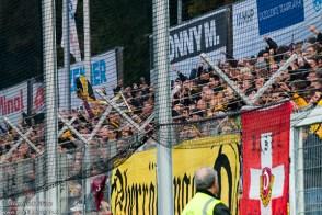 Een gedeelte van de 2.000 anwezige Dynamo Dresden fans