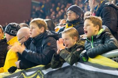 ... Maar zagen hun Avondje NAC in een deceptie eindigen: de club uit Breda verloor met 0-1