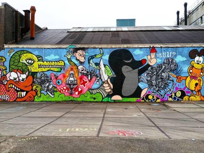 Ludieke Graffiti oorlog: Kunstzinnig