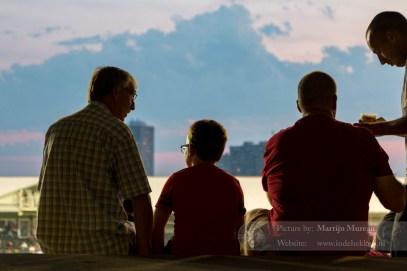 Drie generaties Antwerpen fans, Opa, kleinzoon en zoon