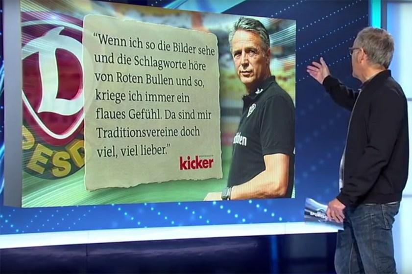 De woorden van de trainer van Dynamo Dresden