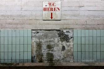 De heren toilet in Tribune 2