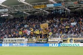 Het fanatieke gedeelte van de Roda JC fans