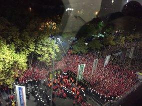 12.000 Union fans wachten om het stadion in te kunnen. Bron: Twitter