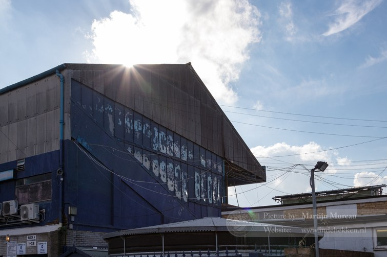 Het oude Roots Hall, thuisbasis van Southend United