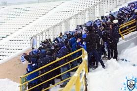 De meegereisde Dynamo Kiev fans. Foto afkomstig van http://wbc.kiev.ua/