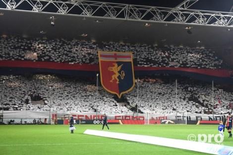 Genoa fans tijden de Derby della Lanterna tussen Genoa en Sampdoria. Foto: Pro Shots / Insidefoto