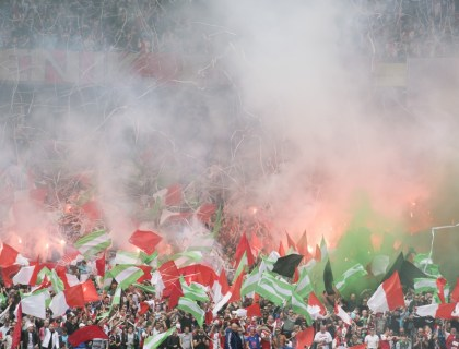 """De Feyenoord fans laten 1 ding blijken: """"Dat kampioenschap is van ons"""". Foto: Pro Shots / Kay Int Veen of Jasper Ruhe"""