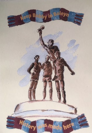 West ham standbeeld 1