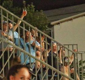 Ultras van Malmo uit bij Domzale