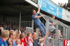 Feyenoord supporters in de hekken