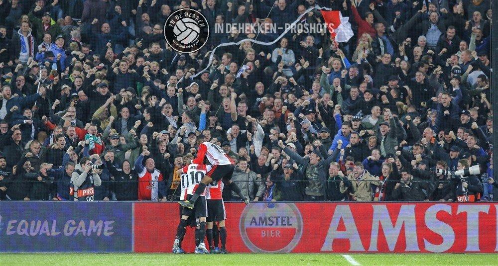 Supporters van Feyenoord tegen Porto