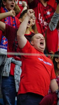 Juichende Wisla supporter
