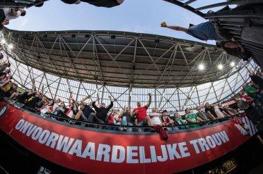 """""""Onvoorwaardelijke trouw."""" Vak S, Feyenoord-Dynamo Tiblisi."""