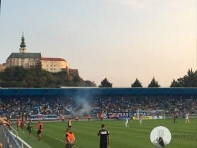 Het uitzicht vanuit het stadion van FC Nitra