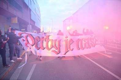 'De derby is van ons!' (foto via Ultras Spartak Trnava).