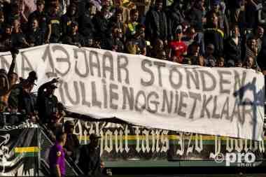 Supporters ADO Den Haag laten zich horen